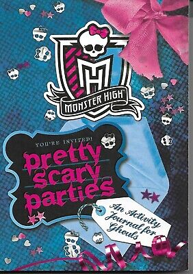 Monster High Pretty Scary Parties An Activity Journal For Ghouls Paperback Book - Monster High Activity Journal
