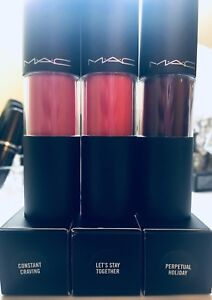 MAC Versicolour stain (lip stain) makeup: package of 3 shades