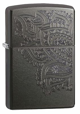 Zippo Windproof Gray Dusk Lighter With Iced Paisley Design, 29431, New In Box