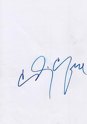 Cindy Crawford Autogramm signed A4 Blatt