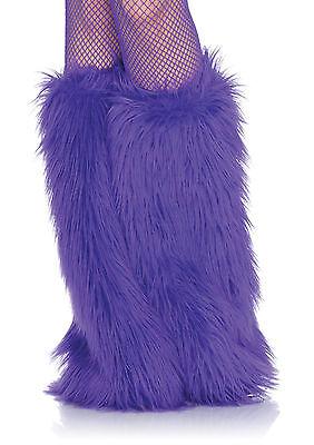 Sexy Leg Avenue Purple Faux-Fur Leg Warmers Costume Accessory - Fur Leg Warmers Costume