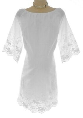 Size Small NWT Womens PRETTY WHITE MATERNITY DRESS Summer Baby Shower Pea in Pod