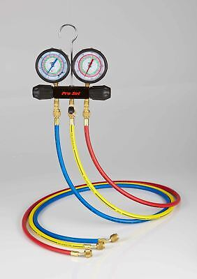 Cps - Mt2h7p5 - Working Man Manifold With R-134a 22 404a 410a Gauges 5 Pre