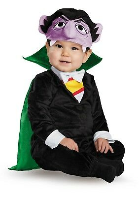 Infant Sesame Street The Count Vampire Halloween Costume Jumpsuit 12-18 Months - Infant Sesame Street Costumes