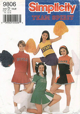 Simplicity M'/M' Petite Cheerlaeder Outfits Pattern 9806 Size 4-8 UNCUT](M&m Outfits)