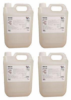 BAC50 Benzalkonium Cloruro Alguicida Bactericida y Fungicida 4 X 5 Litros comprar usado  Enviando para Brazil
