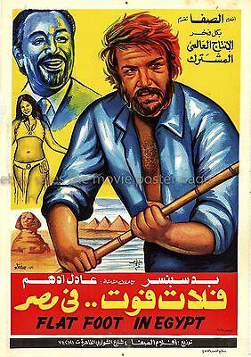Flatfoot in Egypt 1979 Bud Spencer Egyptian one-sheet movie poster
