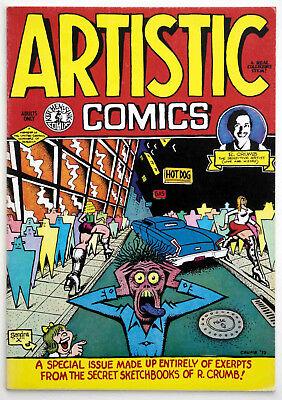 ARTISTIC COMICS, Robert Crumb, Special Collectors Issue, 1995 Kitchen Sink Press
