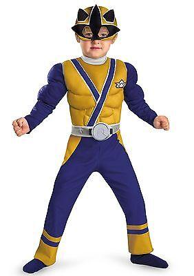 ~Power Rangers Muskeln~Fasching~Karneval~Maske~Samurai~blau (Kostüm Power Rangers Samurai)