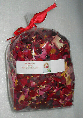 Natural Dried Organic Rose Garden Floral Potpourri 9 Cup Red Pink Yellow (Organic Rose Garden)