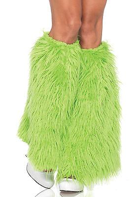 Sexy Leg Avenue Neon Green Faux-Fur Leg Warmers Costume Accessory - Fur Leg Warmers Costume