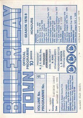 Billericay Town v Marlow 1978/9 (21 Apr) K-Athenian League