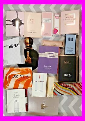 Lot of (6) High End Designer WOMEN`S PERFUME SAMPLES Random Fragrances NEW GIFT!