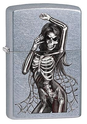 Zippo Windproof Lighter With Sexy Skeleton, 29403, New In Box