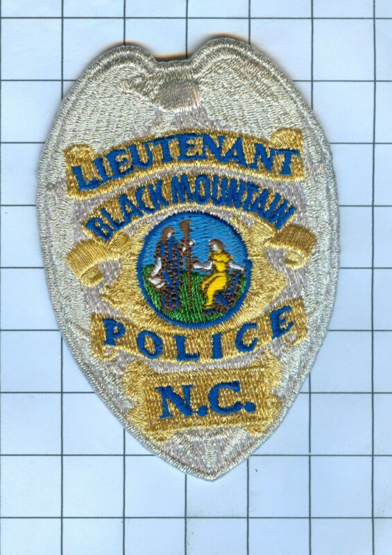 Police Patch Embroidered Mini-Patch  - North Carolina  Lieutenant Black Mountain