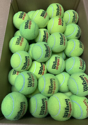 35 USED Tennis Balls ~ Dog Toy Catch Baseball~Walker Table Chair feet~FREE SHIP!