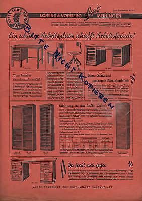 MEININGEN, Prospekt um 1930, Lorenz & Vorberg Lovo-Bürobedarf Schreibtische