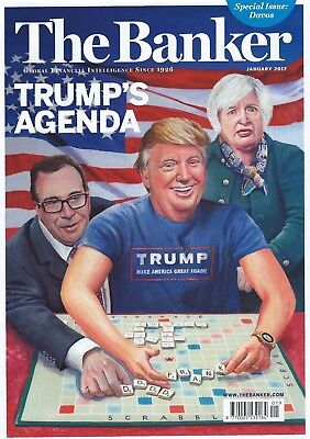 The Banker Magazine January 2017 Special issue davos Donald Trump NEW