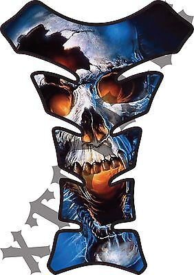 Vampire Skull - Deluxe Gas Tank Protector 3D Pad Guard - Motorcycle Tankguard ()