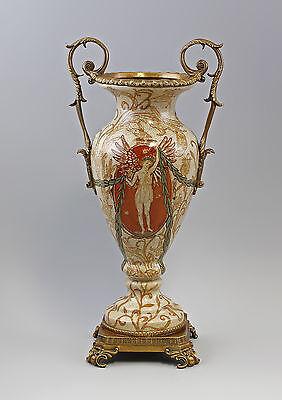 Amphora vase with roman Motif Ceramics Bronze 9937859