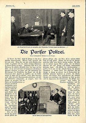 Die Pariser Polizei ( La Rousse) Historical Memorabilia 1902