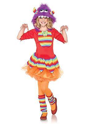 Furry Rainbow Monster Girls Child Costume