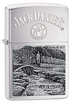 Zippo Lighter: Jack Daniels, Scenes from Lynchburg #7 - Brushed Chrome 29179 for sale  USA