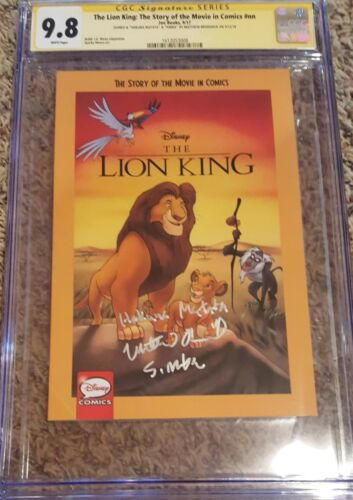 The Lion King #1__CGC 9.8 SS__Signed Matthew Broderick w 'Simba & Hakuna Matata""