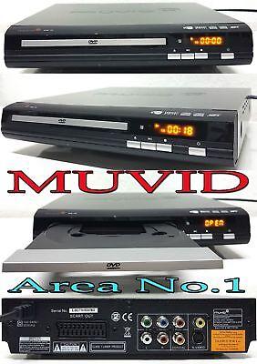 Muvid slim DVD & Musik Player / XviD / MPEG4 / Mp3 / 2 Kanal Audio output