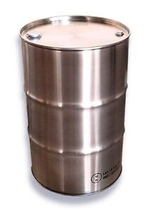 205L 304 STAINLESS STEEL DRUM - FOOD GRADE - TIGHT HEAD with 2 BUNGS [2