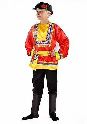 Kid Costumes For Boys (Russian Boys Carnival Costume Traditional Folk Wear Kids National Party Suit)