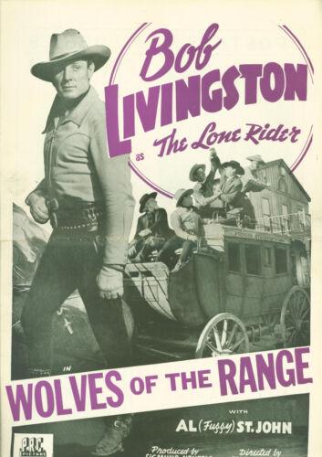 Raiders of Red Gap (1943)  Robert Livingston, Al St. John, Myrna Dell pressbook