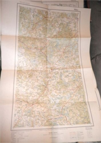 WWI 1915 German Army Military Map E.Europe,Vilnius,Lithuania,Russia,Prussia,RARE