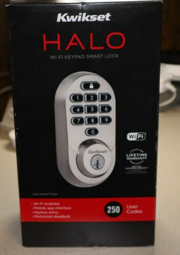 Kwikset Halo Wi-Fi Keypad Smart Lock Satin Nickel Finish - New