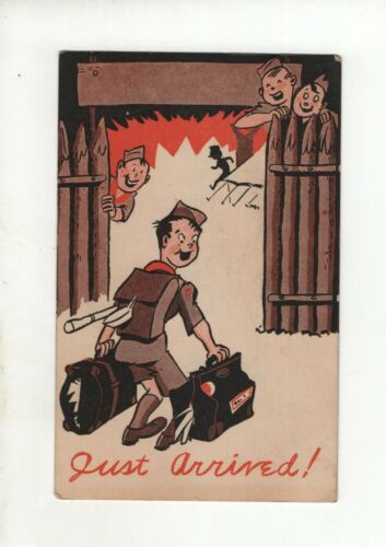 Vintage Comic Post Card - Scout Camp 194? - Just Arrived!