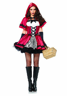 Leg Avenue Women's Gothic Little Red Riding Hood w Cape (Little Red Riding Hood Gothic)