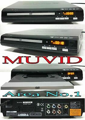 Muvid slim DVD & Musik Player / XviD / MPEG4 / Mp3 / 2 Kanal Audio output