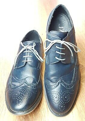 J75 Jump Mens Blue Leather Shoes Size 11.5 Lace Ups All Occasions