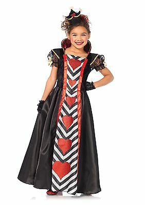 Alice Wonderland Royal Queen of Hearts Child Costume
