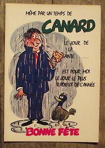 Carte postale temps de canard bonne f te humour vintage - Bonne fete humour ...