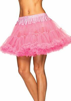 SEXY COSTUMES Pink Petticoat Layered Tulle Womens Tutu PLUS SIZE