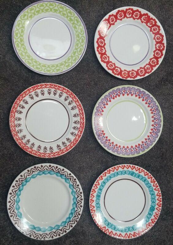 Richard Ginori Paola Navone Folk Salad Dessert Plates New folkware