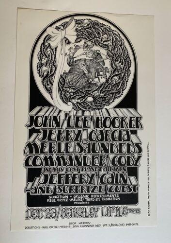 John Lee Hooker, Jerry Garcia & Merle Saunders, Commander Cody Poster