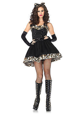Sexy Halloween Adult Frisky Feline Black Kitty Cat Costume