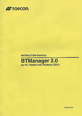 Topcon Btmanager 2.0 Fc-120200 Instruction Manual