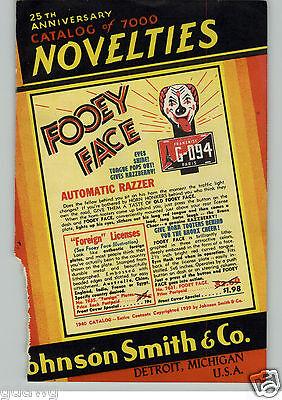 1940 PAPER AD Car Auto Automobile Fooey Face License Plate Light COLOR