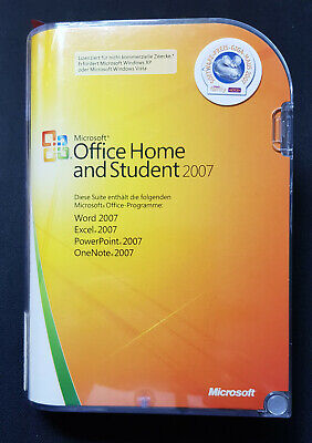 Microsoft Office Home & Student 2007 Vollversion