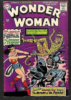 Wonder Woman #160 VG+ 4.5 1st Silver Age Cheetah!