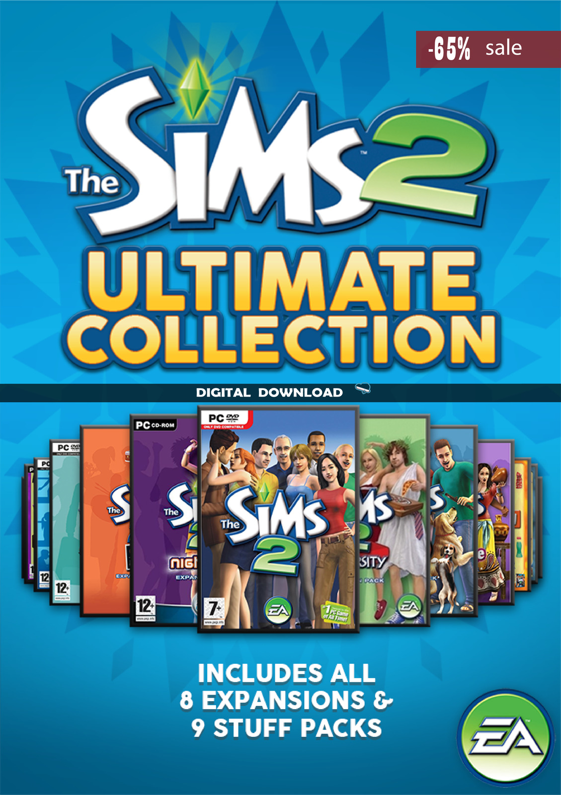 The Sims 2 Ultimate Collection ALL EXPANSIONS PC (Instant Download)
