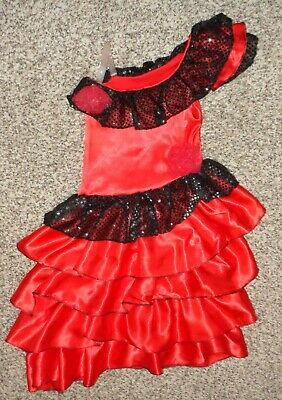 Girls Spanish Flamenco Dancer Dress Costume Size Small EUC - Flamenco Girls
